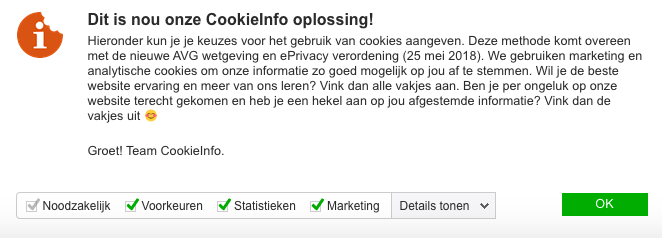 tekst cookie banner