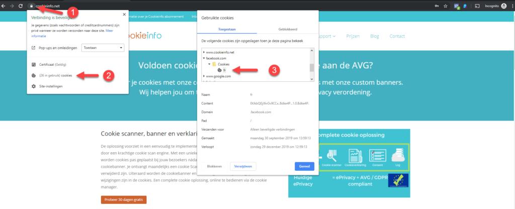Controleren welke cookies jouw website plaatst - Chrome